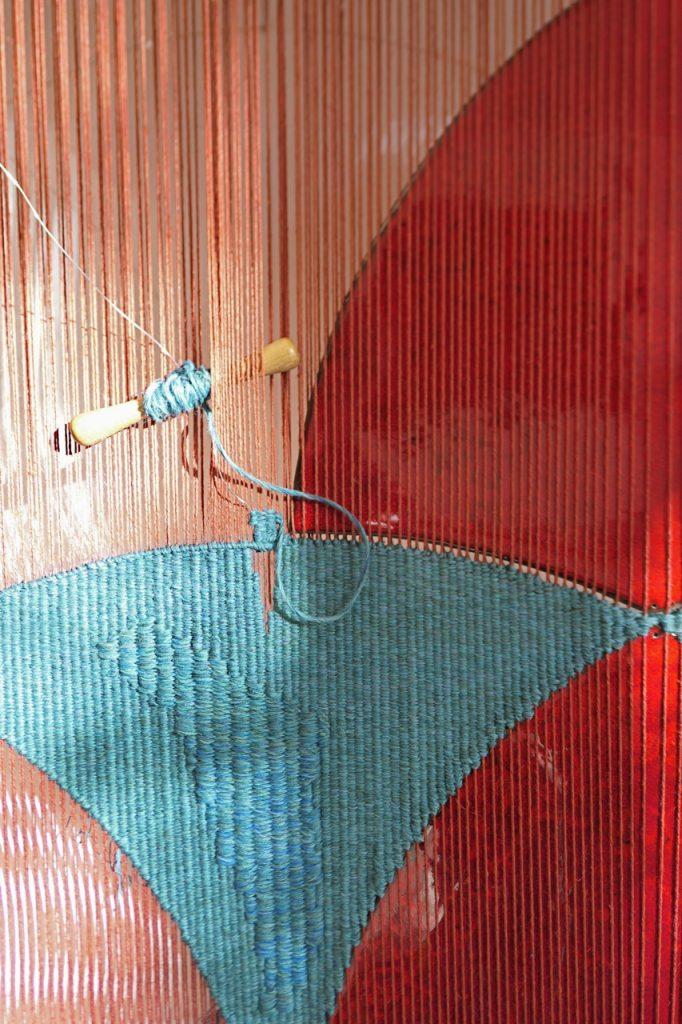 Dernière tapisserie en train de se faire